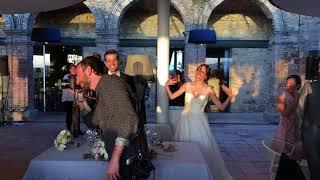EPIC WEDDING ENTRANCE!