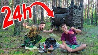 DWU PIĘTROWY DOM NA DRZEWIE! *24h w lesie*