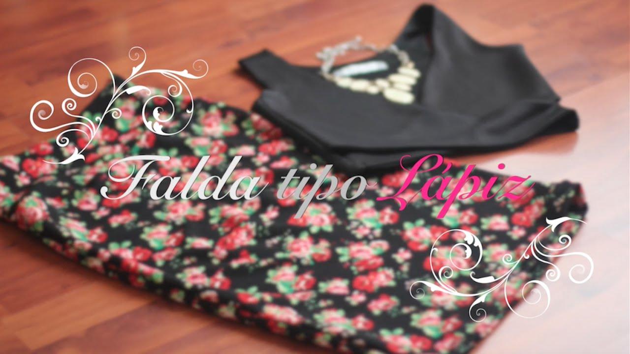 Cómo Hacer tu Falda tipo Lápiz Paso a Paso!! (Pencil Skirt) - YouTube