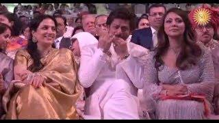 Shah Rukh Khan's Cute Reaction At Akash Ambani- Shloka Mehta's Wedding Ceremony