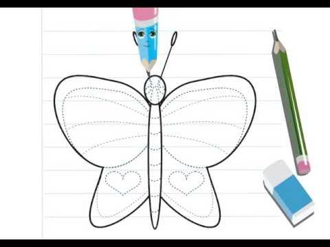 Dessiner un papillon hellokids youtube - Dessine un papillon ...