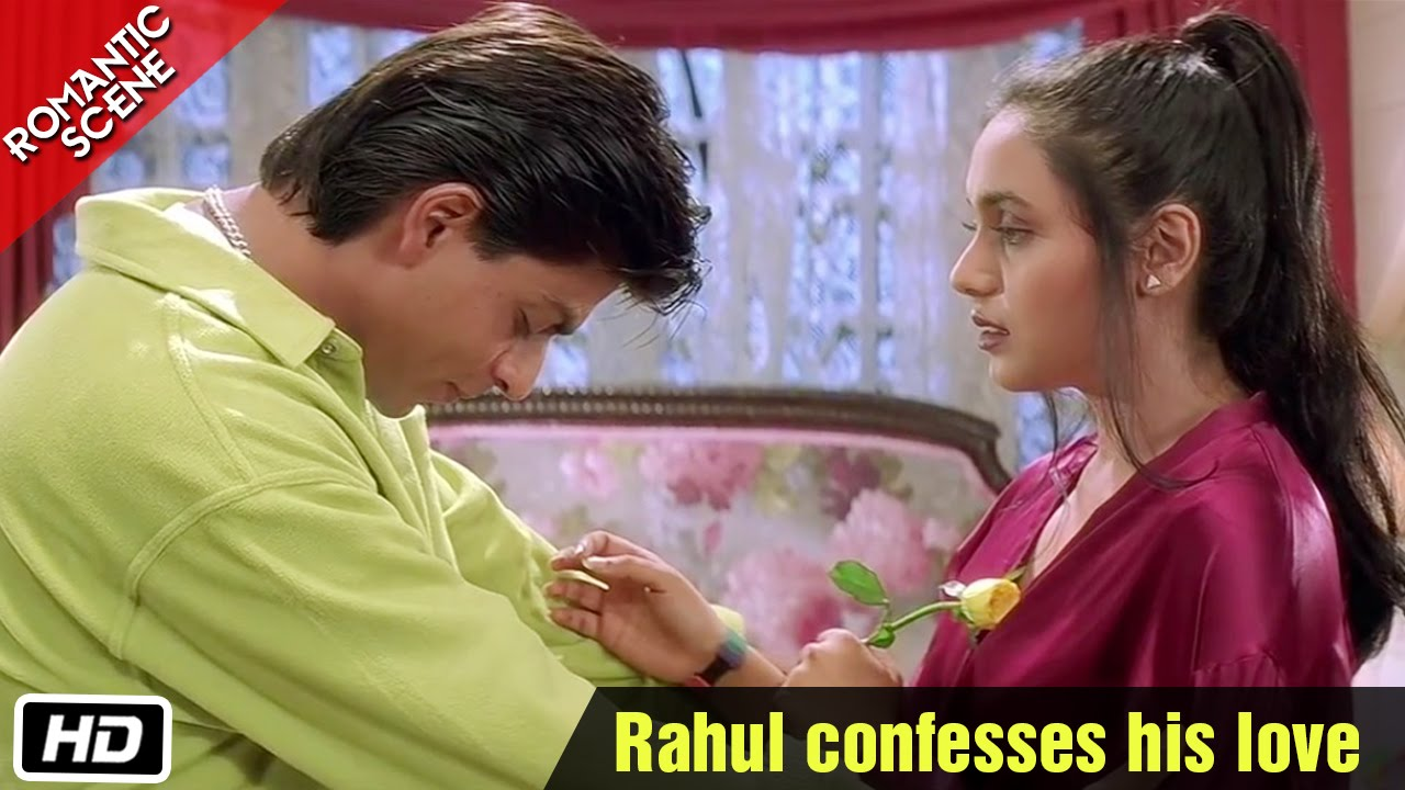Rahul confesses his love - Romantic Scene - Kuch Kuch Hota ...