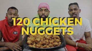 120 CHICKEN NUGGETS IN 10 MINUTES CHALLENGE!!! [80K CHALLENGE]