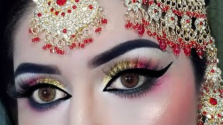 TRADITIONAL PAKISTANI NDIAN BRIDAL MAKEUP TUTORIAL |AFFORDABLE BRANDS | 2020 MAKEUP | BEGINNERS