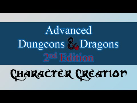 Advanced Dungeons and Dragons 2e Character Creation