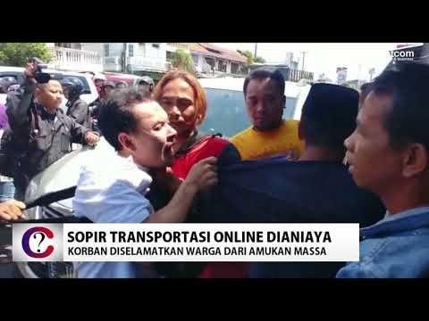 Ini Detik-detik Sopir Transportasi Online Dikeroyok Massa di Cirebon