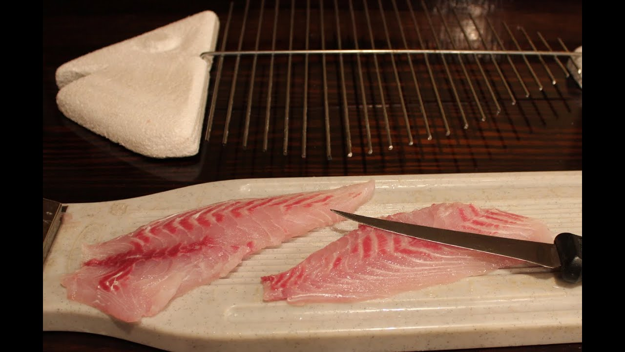 How to fillet a fish step by step youtube for How to make fish fillet