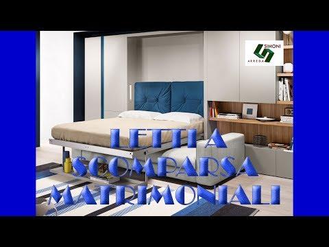 Letti a scomparsa matrimoniali by simoni arreda youtube for Lideo arreda