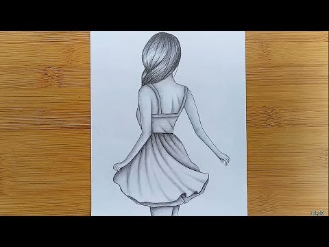 How To Draw Easy Girl Drawing For Beginners Step By Step Youtube