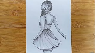 How to draw eąsy Girl Drawing for beginners - Step by step