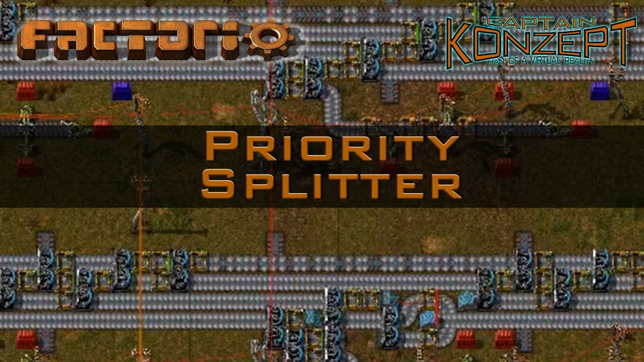 Factorio Priority Splitters: Maximum Throughput off your Main Bus