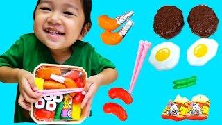 ちゃめっこタイム おべんとうで遊んだよ♪おもちゃ ごっこ遊び☆おままごと himawari-CH thumbnail