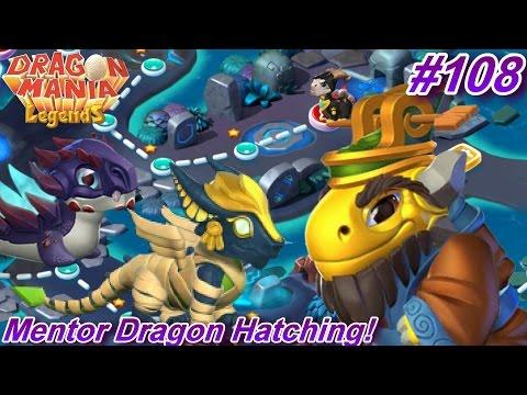 Mentor Dragon Hatching + Shadow Island Map Battles! - Dragon Mania Legends #108