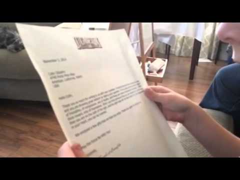 Download Youtube: Colin's Letter from LucasFilm