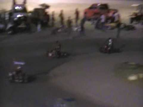 Part 1 of 2 Brennan Riley South Texas Speedway June 27 2009 Junior Division Go Kart Feature Race