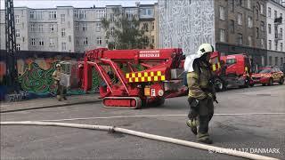 18.06.2019 - Ild i bygning - København