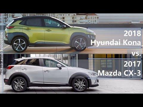2018 Hyundai Kona vs 2017 Mazda CX 3 technical comparison