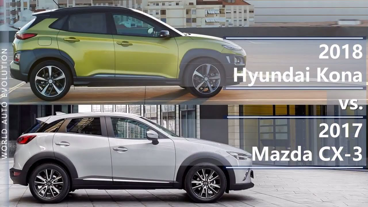2018 Hyundai Kona Vs 2017 Mazda Cx 3 Technical Comparison