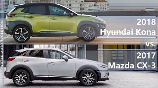 2018 Hyundai Kona vs 2017 Mazda CX-3 (technical comparison)