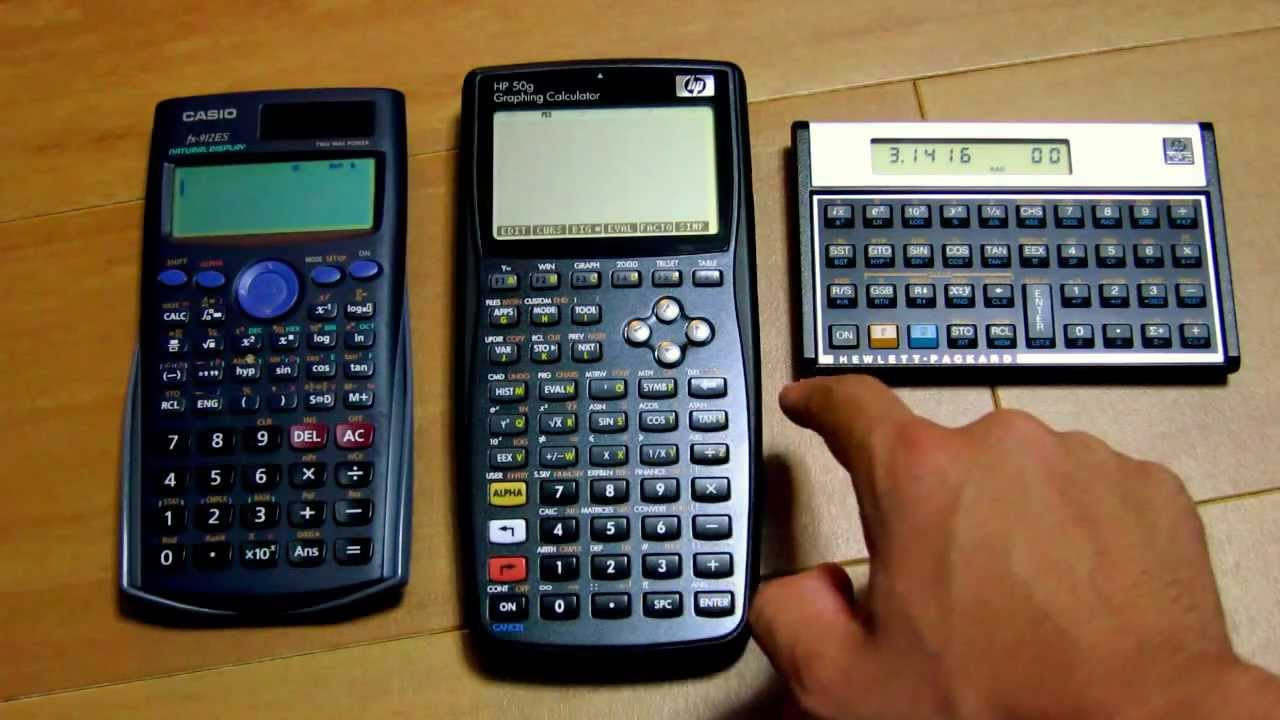 Definitive Integral in three calculators: Casio fx-912ES, HP 50g, and HP  15c Limited Edition