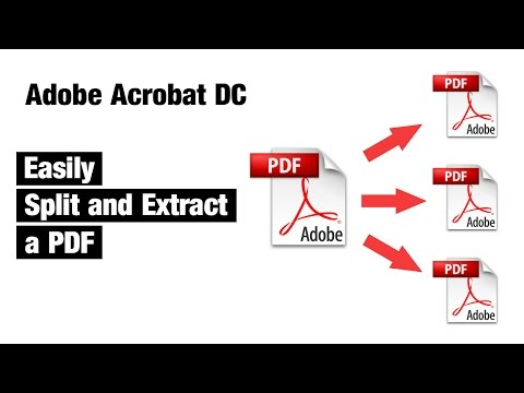 split pdf using adobe reader dc