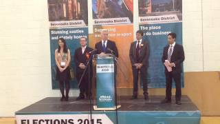 Sevenoaks Parliamentary election declaration 2015