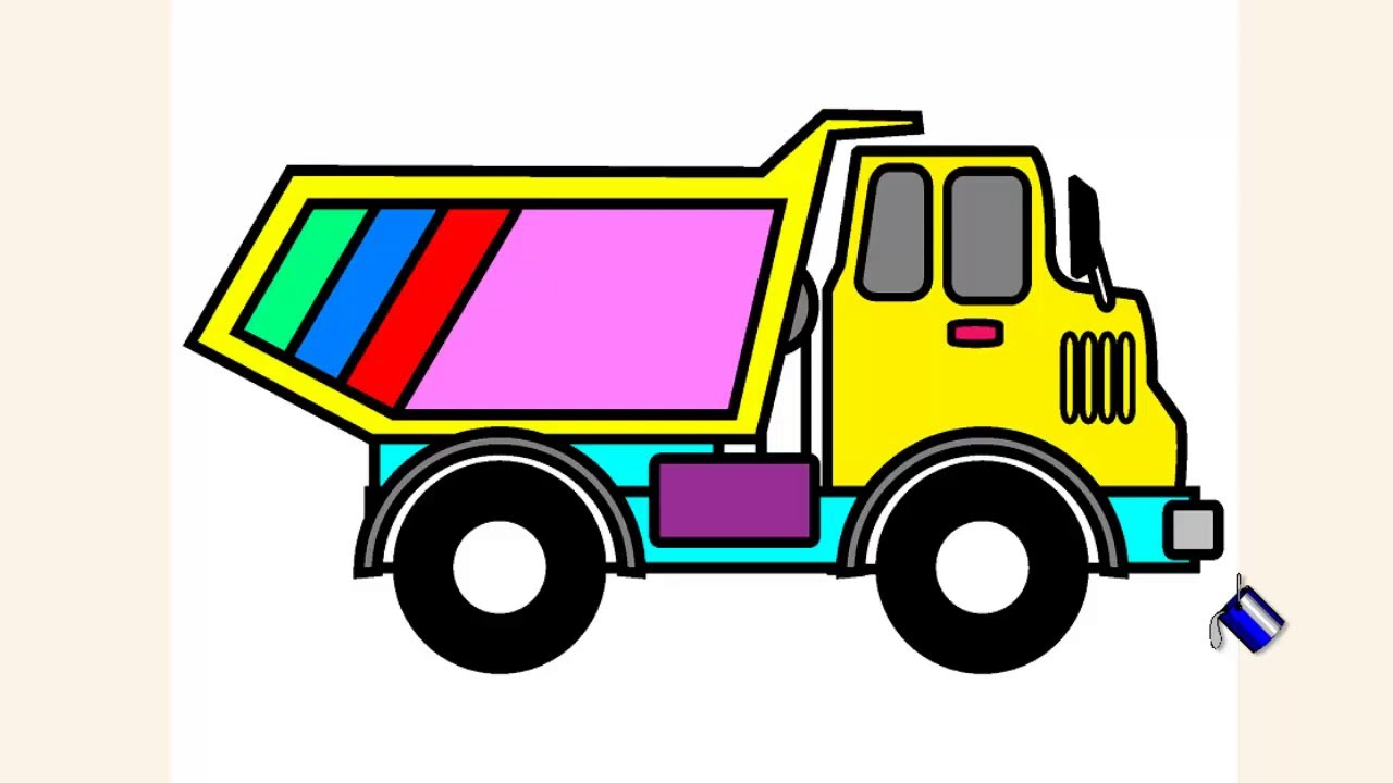 coloring pages for kids dump truck coloring pages free youtube