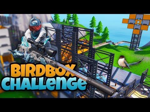 DE BIRD BOX CHALLENGE - Fortnite Creative met Link