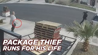 Package Thief VS Bounty Hunter with a Gun