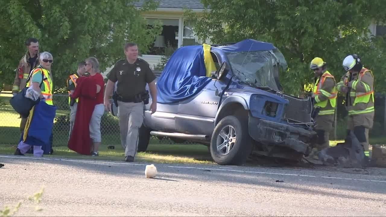 Two dead in crash that shuts down Highway 312 in Huntley