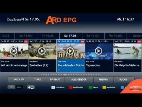 HbbTV ARD Das Erste EPG Example