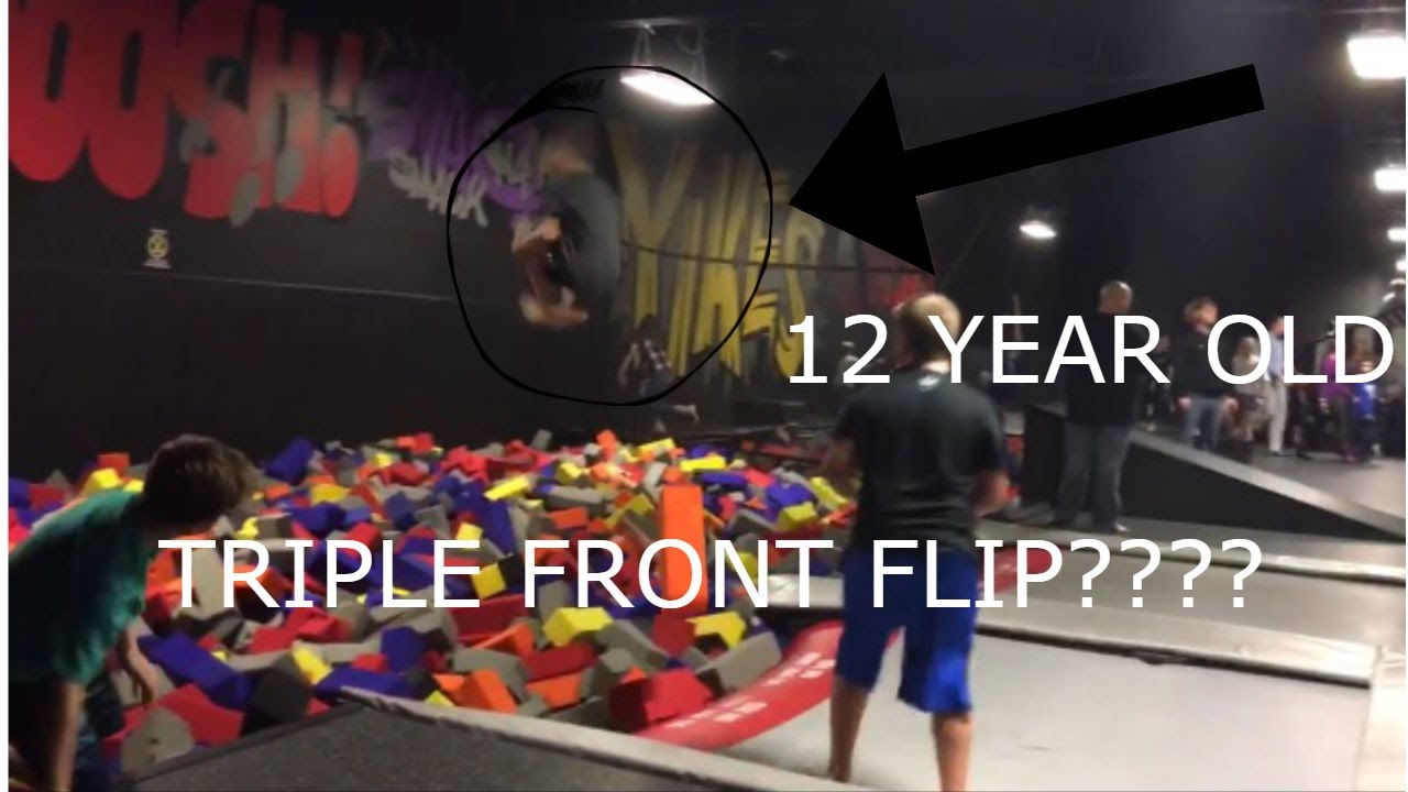 House Of Boom Tricks (12 Year Old Does Triple Front Flip)   YouTube