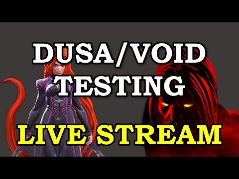 Void Testing (Temp access with Content Creator Program) | Marvel Contest of Champions Live Stream