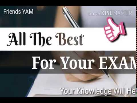 Best Of Luck For Your Exams Whatsapp Status Youtube