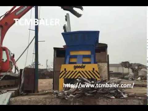 TCM BALER-scrap steel waste metals plates cutting machine Algeria  Guynea  Senegal