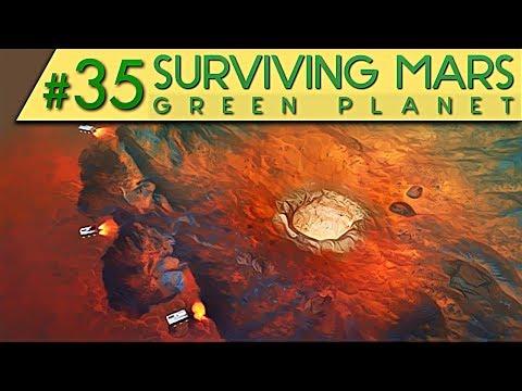 Surviving Mars GREEN PLANET DLC SELTSAMER KRATER Deutsch German Gameplay #35
