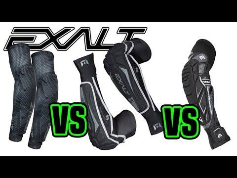 Comparing EXALT Elbow Pads | Alpha vs T3 vs FreeFlex | Lone Wolf Paintball Michigan