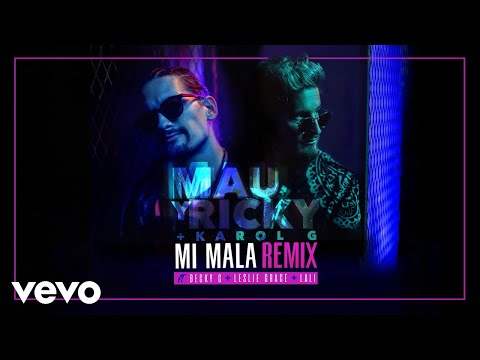 Mau y Ricky, Karol G - Mi Mala (Remix) (Official Audio) ft. Becky G, Leslie Grace, Lali
