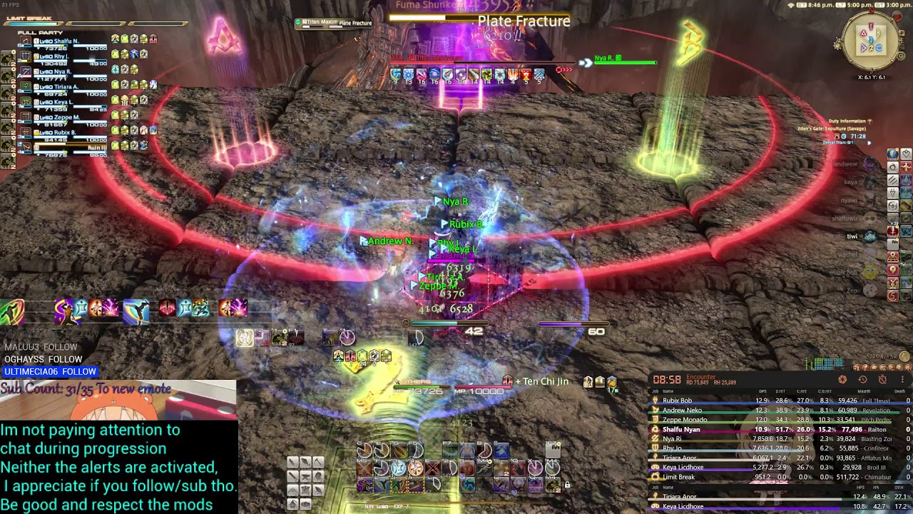 Final Fantasy XIV NInja E4S First clear