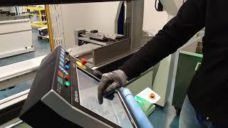 Pressbrake setup with automatic safety laser