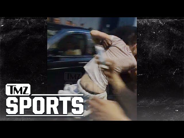 Mayweather Harassed By Crazy McGregor Fans, Security Hit By Rolls Royce   TMZ Sports