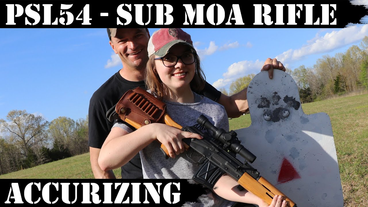 PSL54 Sub MOA Rifle in hands of teenager...Accurizing it in 3 easy steps!