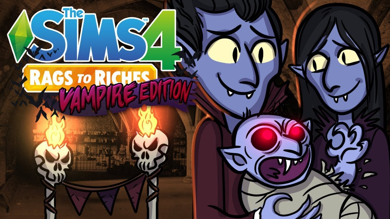 Download Having a Vampire Baby!! | The Sims 4 Rags to Riches Vampire | Sims 4 Let's Play Ep.11