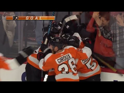 NOLAN PATRICK TYING GOAL WITH 2 SECONDS LEFT! - Philadelphia Flyers vs Ottawa Senators 2/3/18