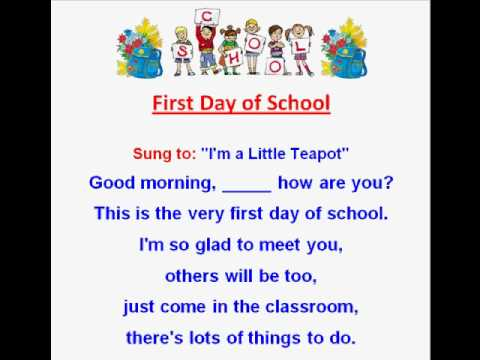 First Day Of School Kids Back To Rhymes And Songs Read Sing