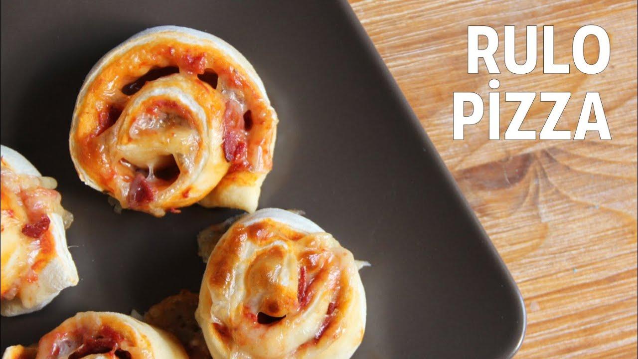 Hazır Ekmek Hamurundan Pratik Pizza Yapılışı Videosu