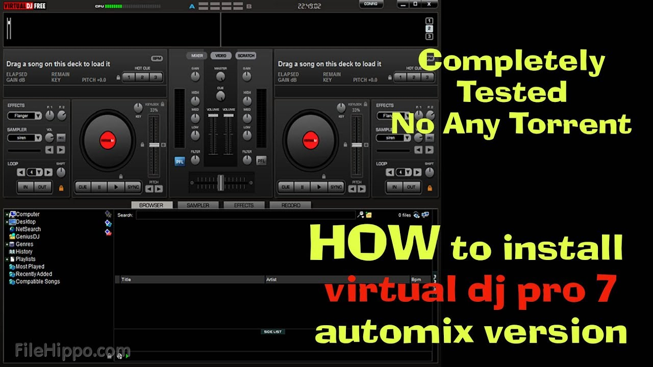 How to install Virtual Dj Pro 7 Full Version for Free