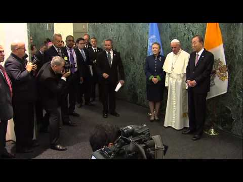 Arrival of His Holiness Pope Francis at the United Nations