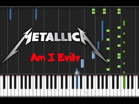 Metallica - Am I Evil? (♫) (Instrumental + Synthesia)