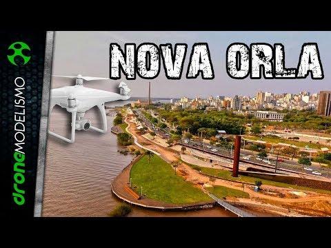 DRONE mostra as OBRAS da NOVA ORLA do GUAÍBA em PORTO ALEGRE